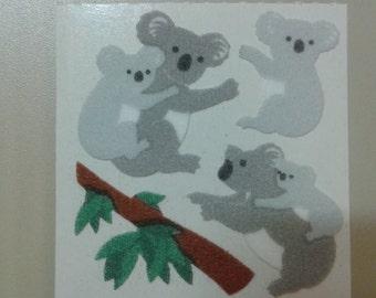 Sandylion Stickers Vintage Fuzzy Koala Bears, Bear  (1 mod)
