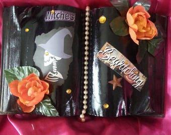 Halloween Witch Book Decoration