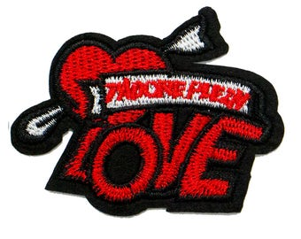 Free Shipping! Fun Love Embroidered Iron-On Patch, Embroidery Applique