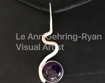 Sterling Silver Squiggle with Amethyst