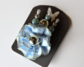 Blue and Silver Decorative Stick Pin Sets For Scrapbooking, Mini Albums, & Card Making