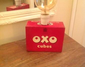 Unique Vintage OXO Tin Table Lamp
