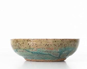 Small Ceramic Bowl Trinket Dish, Blue Glaze Studio Pottery, Jewelry Dish
