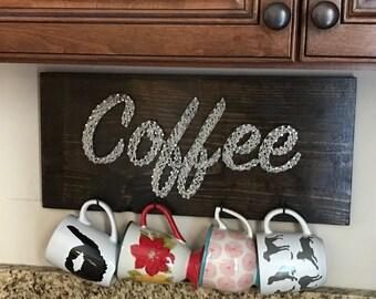 Coffee String Art Mug Holder