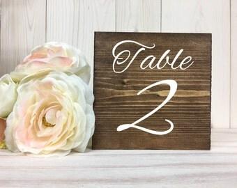 Table Numbers // Rustic Wedding Table Numbers // Wood Table Numbers // Wedding Decor // Summer Wedding // Block Table Numbers