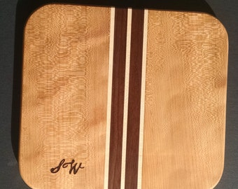 Cherry, maple, black walnut cutting board/ cheese board