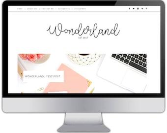 Premade responsive blogger template - WONDERLAND