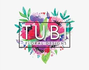 Logo, Logo Design, One Concept Logo Design, Unique Logo, Ooak Logo, Graphic Design, Branding, Floral Logo, Florist Logo, Business Logo