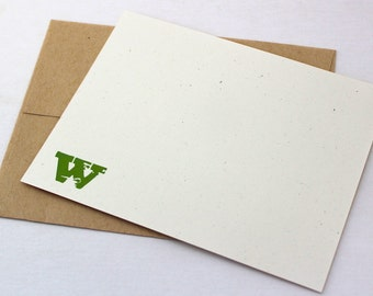 Monogram Eco Notecard Set of 8
