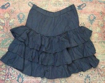 1940's 1950's Layered Ruffle Skirt