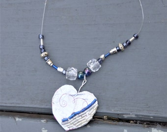 Purple Heart Recycled Necklace
