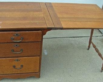 Oak Larkin Sewing Table