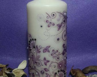 Candle floral swirl