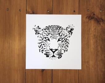 Black and White Leopard / Cheetah Giclée Print