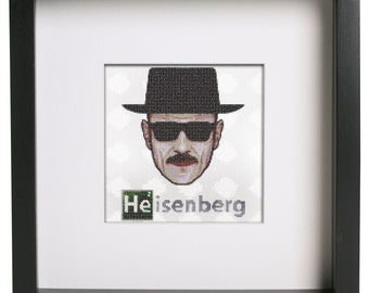Heisenberg Cross Stitch Pattern Breaking Bad Counted Cross Stitch Pattern By StitchCreationShop