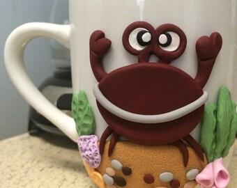 Handmade cup, polymer clay, clay cup, clay mug, fimo clay, clay on cup, clay on mug