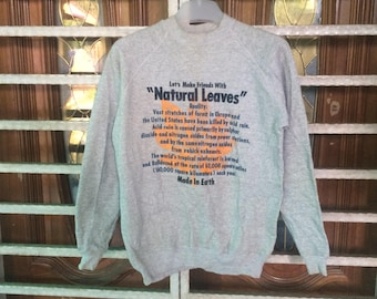 Vintage Natural Leaves Sweatshirt medium size