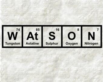 Elementary My Dear Watson / Sherlock Holmes decal / Watson Sticker / Periodic Table Decal / Sherlock Funny Decal / Sherlock Quote / Laptop