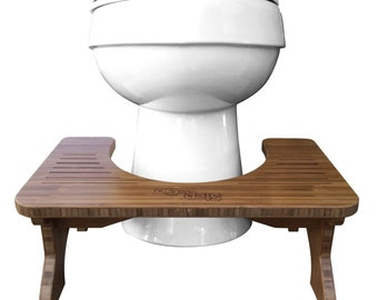 "Step and Go Bamboo Toilet Stool (7"" and 9"")"
