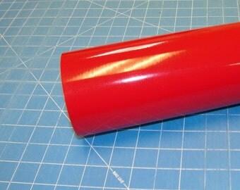 "Red Oracal 651 12"" x 5' (5 feet) Roll * Sign Vinyl * Decal Vinyl"