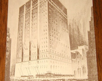 the Taft Hotel new york city 7th avenue times square radio city music hall vintage postcard rare collectible never used