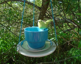 Adorable, Three Piece, Mix and Match, Hand Crafted, Mini Bird Feeder