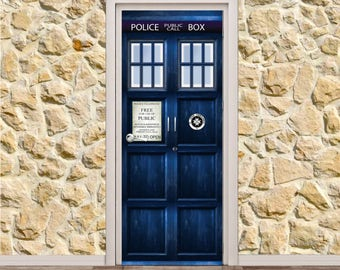 "Doctor Who Tardis Door Poster/Sticker (30"" x 79"" 