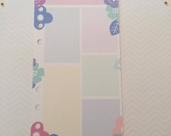 Personal Jotter Paper Insert 20 Sheets // Double Sided // Planner