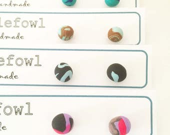 Round Ball Tribal Studs Earrings