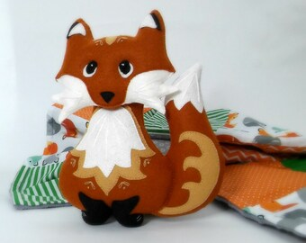 Fox softie. Woodland nursery decor. Felt fox. Fox nursery decor. Woodland softie. Woodland decor. Baby shower gift