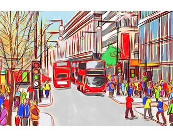 london, bus stop street