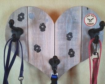 Dog Leash Hook|Dog Leash Hanger|Pallet Wood Leash Holder|Leash Hook|Pet supplies|Pets|Rustic Reclaimed Wood|Pet Gifts