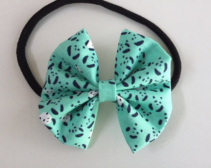 Where's Panda fabric hair bow or bow tie