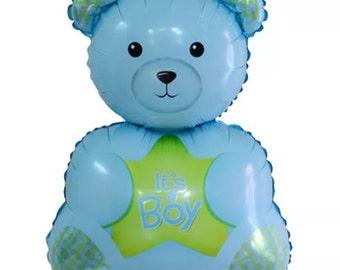 Its a boy teddy bear foil helium balloon