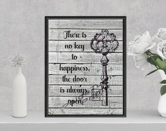 Key to Happiness **DIGITAL PRINT**