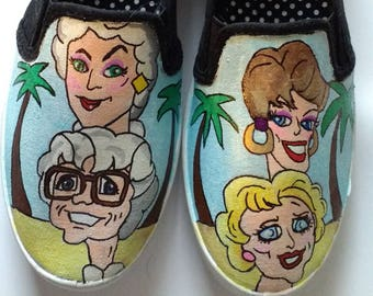 Golden Girls hand painted shoes
