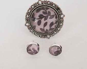 Vintage Silver Handmade Ring and Earring Set