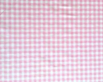 Half metre cotton fabric, pink check fabric, pink gingham check pattern, check pattern, check fabric