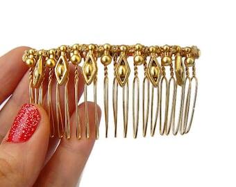 Gold Leaf Hair Comb Geometric Hair Comb Gold Hair Comb Simple Hair Comb Gold Bridal Comb Simple Bridal Comb Gold Hair Piece Bridal Gift