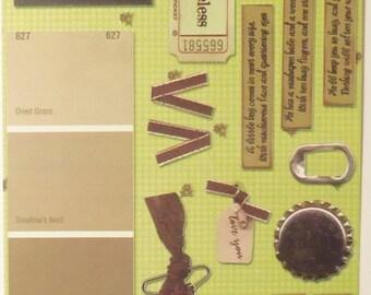 Rocky Mountain Scrapbook Co Playtime - Boy Stickers 17 Pcs New
