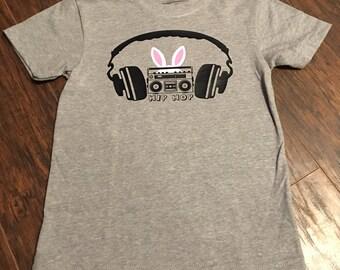 Hip Hop Bunny Shirt, Easter Shirt, Boombox Shirt, Boom Box Shirt, Bunny Shirt, Hip Hop Shirt, Easter Bunny Shirt, Easter Outfit