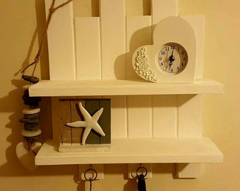 shabby chic shelving in white