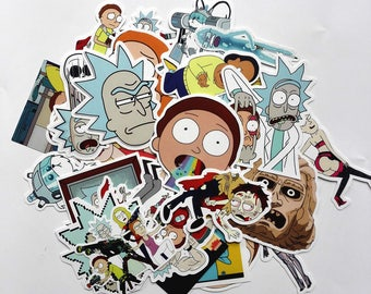 Five Random Rick and Morty Stickers