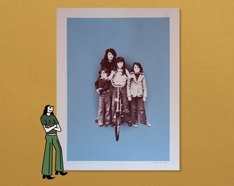 Bike Girl Gang - 2 Color Screenprint