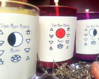 Triple Goddess Candles Set