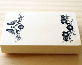 CLEARANCE SALE - Rubber stamp - Japanese card - no line