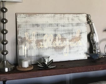 Christian Hallelujah wooden sign