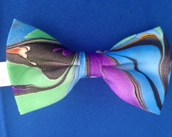 bow tie hand painted silk