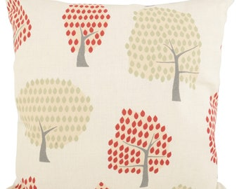 Forest Scandi Red Cushions with Fillers Various Sizes 28cm , 36cm, 43cm , 60cm