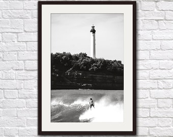 Biarritz (France) Surf Photography Print, Wall Art, Home and Business Decor